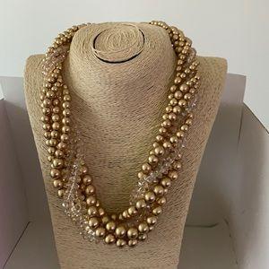 3/$10 NEW multi strand gold necklace